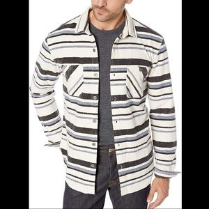 UNIONBAY Fleece Button Up Striped Shacket Shirt